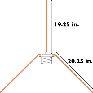 2m ground plane antenna