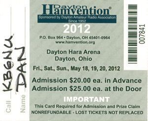 Dayton 2012 Ticket