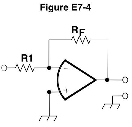 Figure E7-4. Operational amplifier circuit