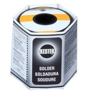 A 1-lb. roll of Kester 44 solder with a 63/37 tin-lead formulation is $22.96 from AllSpec Industries. Kester 44 with a 60/40 formulation costs only $21.06.