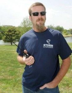 Chris, KE5ZRT, is president of the Panhandle ARC and a SkyWarn storm spotter