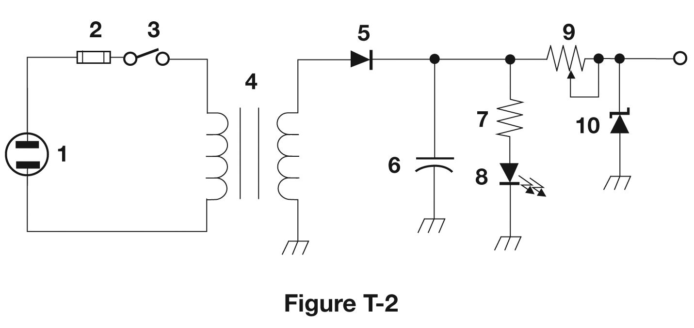 2018 No Nonsense Tech Study Guide Electronic Components And Rectifier With Capacitor Filter Public Circuit Online The Shown In Figure T2 Is A Simple Power Supply Component 2 Fuse