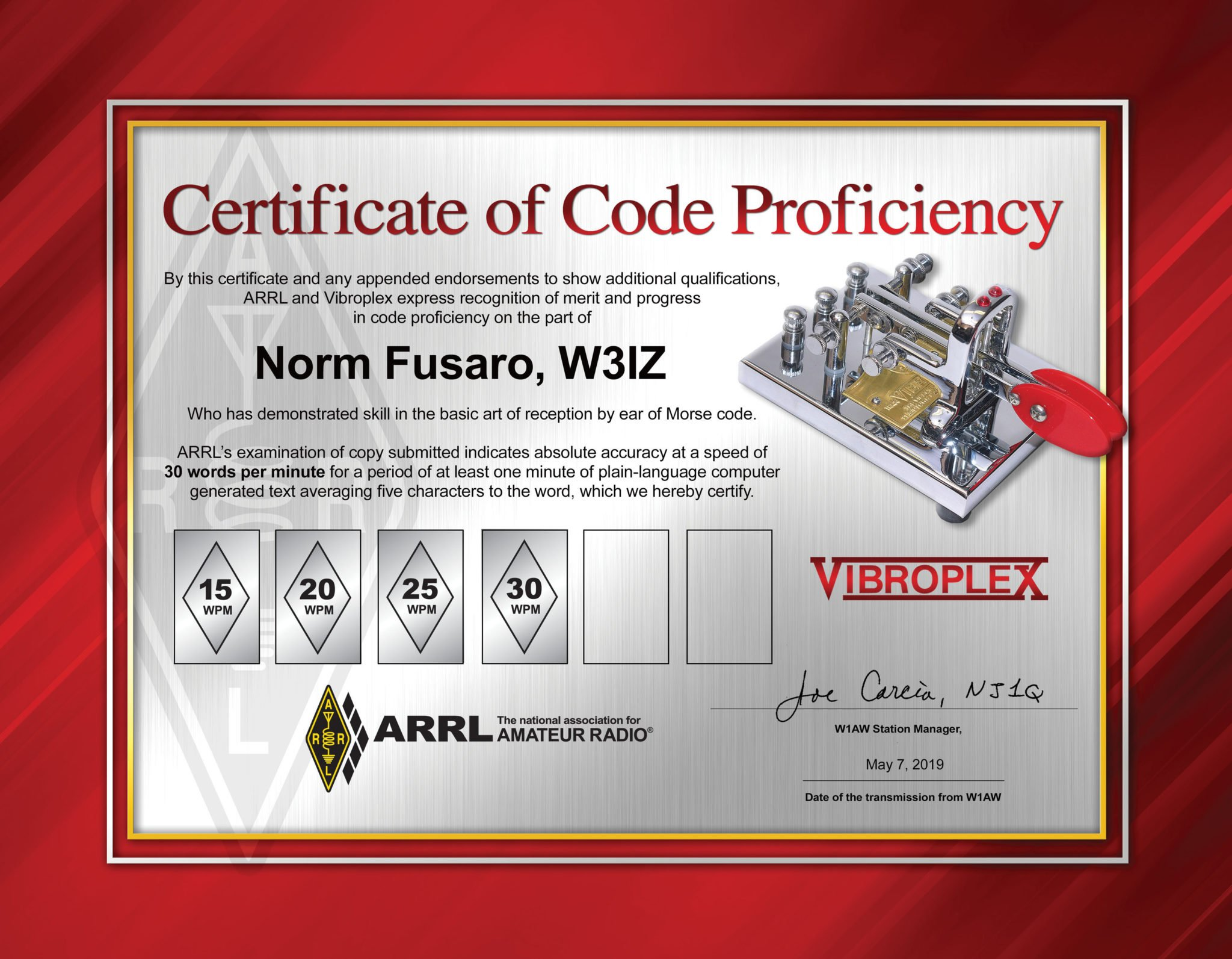 ARRL Amping up Code Proficiency Awards - KB6NU's Ham Radio Blog
